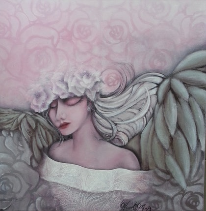 (CreativeWork) ANGEL by Wendy Hillman. arcylic-painting. Shop online at Bluethumb.