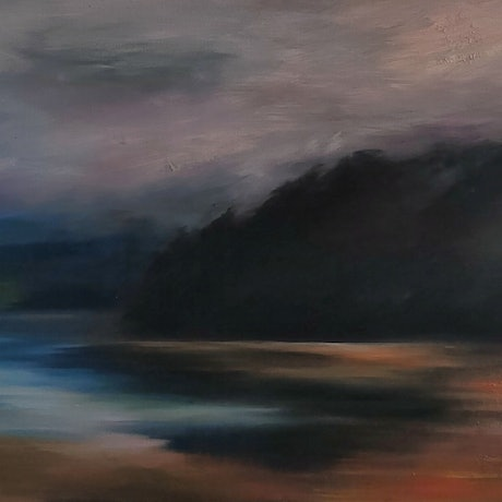 Depicting the essence of Kanamaluka, Tamar River in Tasmania. The banks of 'Muddy Creek' are featured here