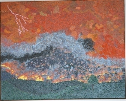 (CreativeWork) Evacuate/Stay and Fight 1 ? by Barry ( Baz) Nixon. arcylic-painting. Shop online at Bluethumb.