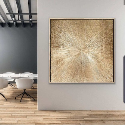 Gold metalic modern abstract