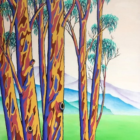This painting is inspired by cool winter days in the bush.