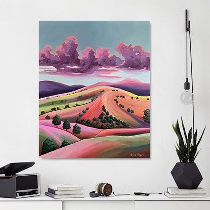colourful abstract landscape