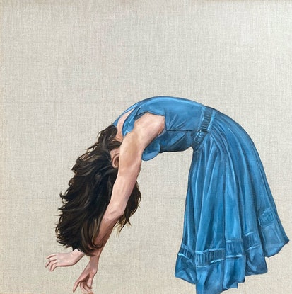This painting is inspired by movement and a love of blue!