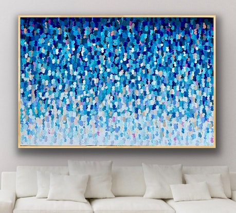 Blue abstract seascape