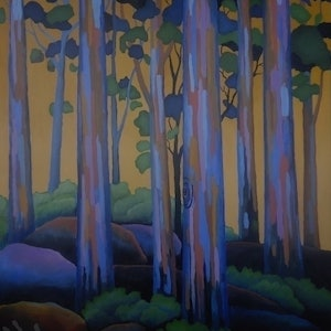 (CreativeWork) TREESCAPE 3 by Saadah Kent. arcylic-painting. Shop online at Bluethumb.