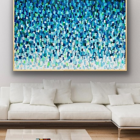 Blue and green textured abstract
