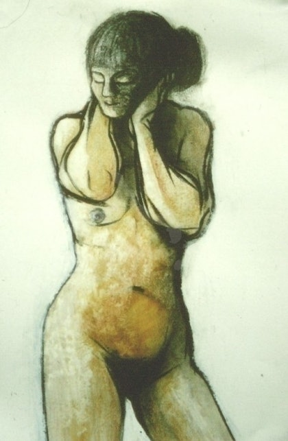 (CreativeWork) Nude by Kathleen Gregan. drawing. Shop online at Bluethumb.