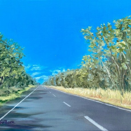 Outback road to Moonie, Queensland