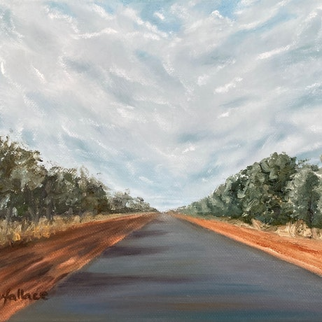 Outback road to Cunnamulla.