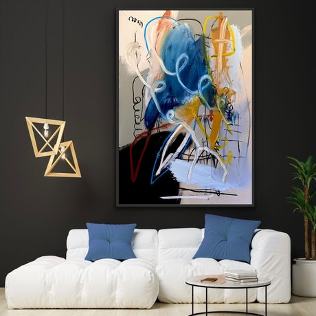 Original Artwork  Painting :Silkscreen , Charcoal , Graphite , Oil Stick , Oil and Acrylic on Canvas Original : One-of-a-kind Artwork Size: 150cmx 100cm Frame : Not Framed Packaging : Ships Rolled in a Tube  In Stock & Ready to Ship! Signed on Front