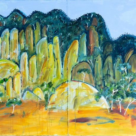 Abstract Australian Landscape of Hanging Rock Central Victoria