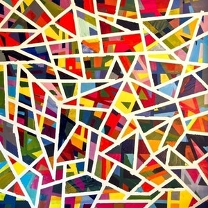 (CreativeWork) Intersection by Leon Lester. arcylic-painting. Shop online at Bluethumb.