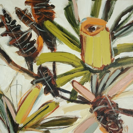 Abstract banksias