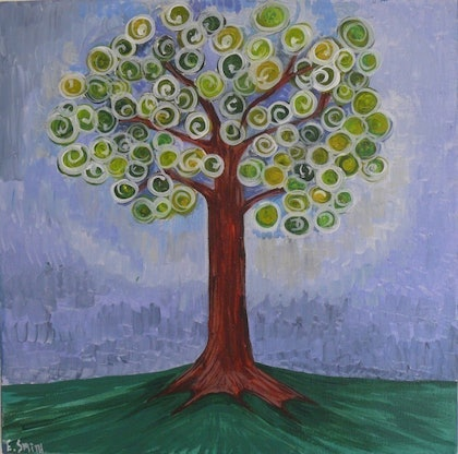 (CreativeWork) Tree of Life and Light by Eve Smith. arcylic-painting. Shop online at Bluethumb.