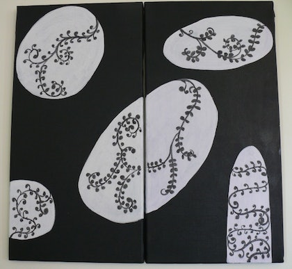(CreativeWork) Stepping Stones by Eve Smith. mixed-media. Shop online at Bluethumb.