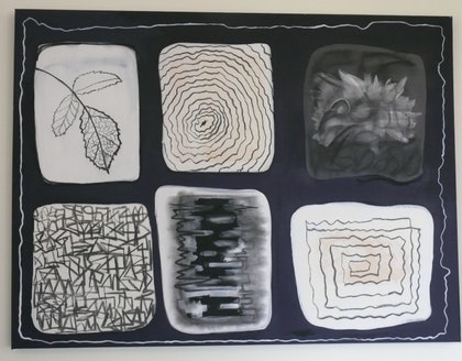 (CreativeWork) Patterns and Rhythm by Eve Smith. mixed-media. Shop online at Bluethumb.