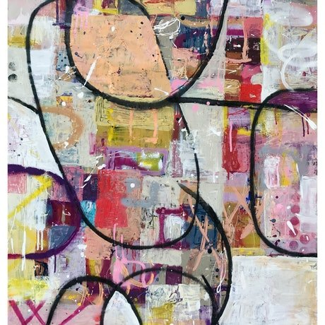 Abstract Graffiti Painting on Recycled Paper