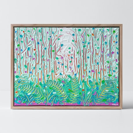 textured forest and ferns