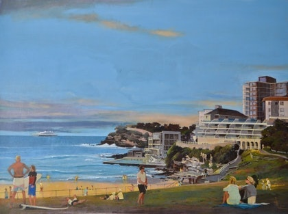 (CreativeWork) Bondi Beach by Wirata .. other-media. Shop online at Bluethumb.