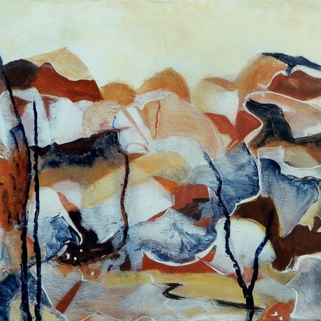 An abstract inspired by the Red Centre exploring the passage of time on the landscape
