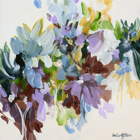 small impressionist style colourful flower painting