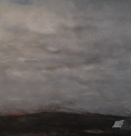 (CreativeWork) Outback by Ben Alvarado. oil-painting. Shop online at Bluethumb.
