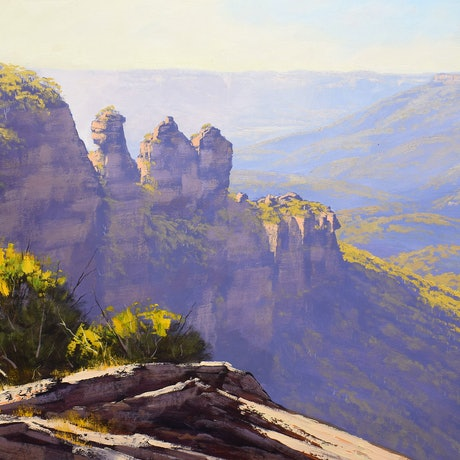 Blue mountains painting
