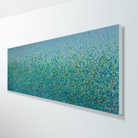 Blue Green Nature Painting