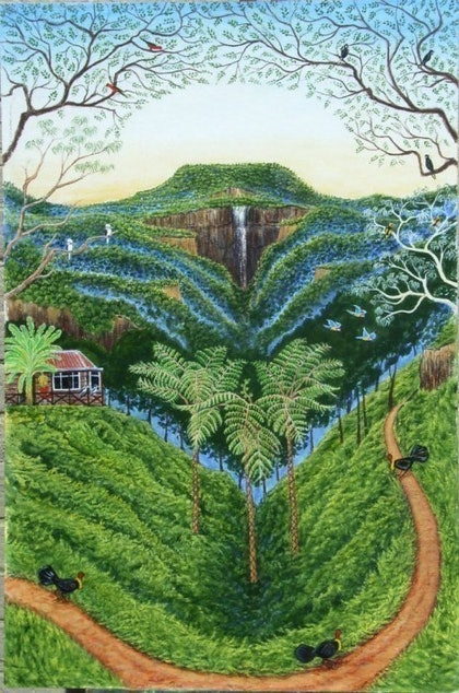 (CreativeWork) The Rainforest by etienne cohen. arcylic-painting. Shop online at Bluethumb.