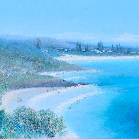 Painting of Cabarita Beach from Norries Head.