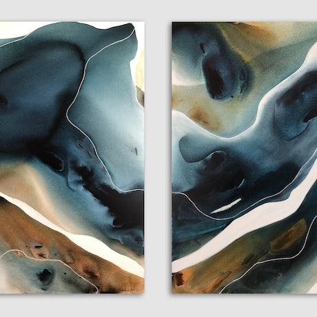 Abstract landscape representing nature.