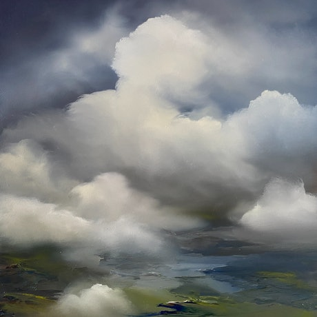 Clouds and distant land