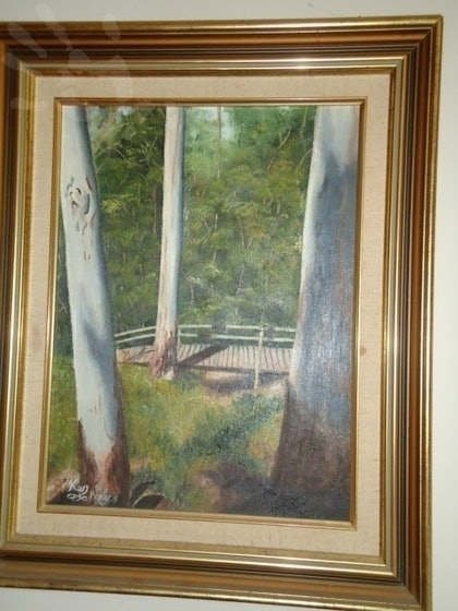 (CreativeWork) Between the gums by Ken Pearce. oil-painting. Shop online at Bluethumb.