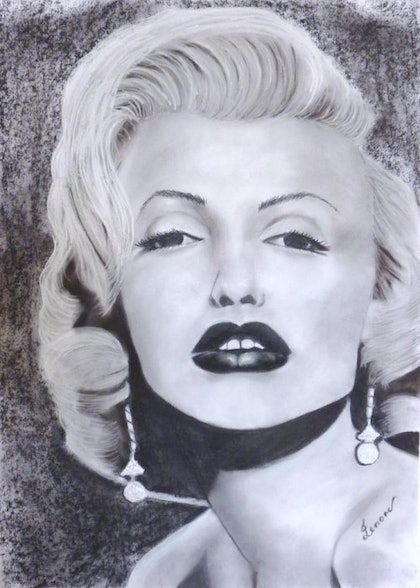 (CreativeWork) Marilyn by Lenore Wilks. drawing. Shop online at Bluethumb.