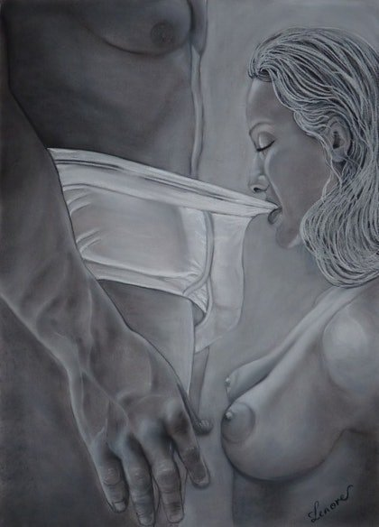 (CreativeWork) DESIRE by Lenore Wilks. drawing. Shop online at Bluethumb.