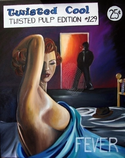 (CreativeWork) Fever by Melody Wain. oil-painting. Shop online at Bluethumb.