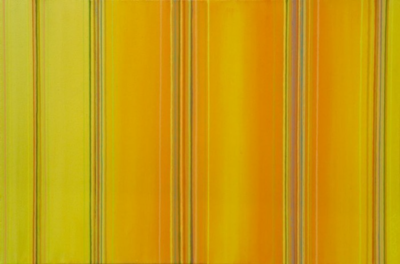 (CreativeWork) Yellow spectrum shift 793 by Ernie Gerzabek. acrylic-painting. Shop online at Bluethumb.