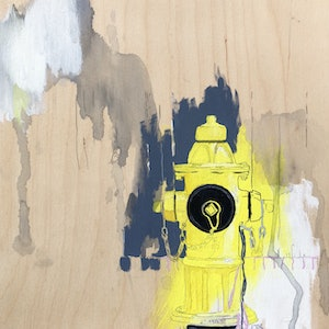 (CreativeWork) Toronto Fire Hydrant by Lydie Paton. mixed-media. Shop online at Bluethumb.