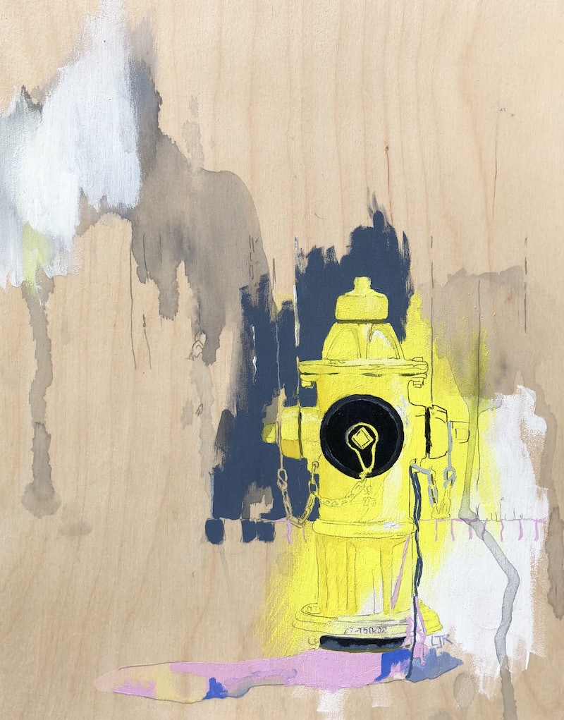 Toronto Fire Hydrant by Lydie Paton. Paintings for Sale. Bluethumb ...