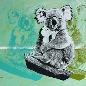 (CreativeWork) How Much Can A Koala? (3) by Merry Sparks. Acrylic Paint. Shop online at Bluethumb.