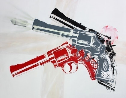 (CreativeWork) I Shotgun No 4 by Merry Sparks. arcylic-painting. Shop online at Bluethumb.