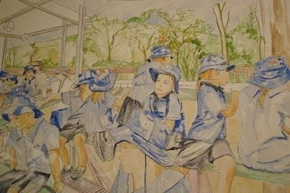 (CreativeWork) School Trip by Paul Roberts. arcylic-painting. Shop online at Bluethumb.