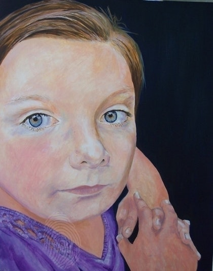 (CreativeWork) Emily by Paul Roberts. oil-painting. Shop online at Bluethumb.