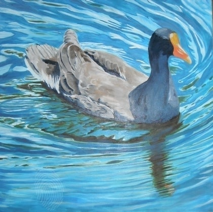 (CreativeWork) Full steam ahead by Paul Roberts. oil-painting. Shop online at Bluethumb.