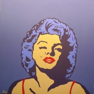 (CreativeWork) Norma Jean by Dan Minnis. arcylic-painting. Shop online at Bluethumb.