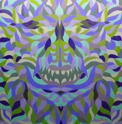 (CreativeWork) Demon by Dan Minnis. arcylic-painting. Shop online at Bluethumb.
