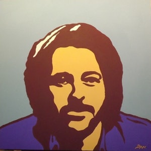 (CreativeWork) Bernard Fanning by Dan Minnis. arcylic-painting. Shop online at Bluethumb.