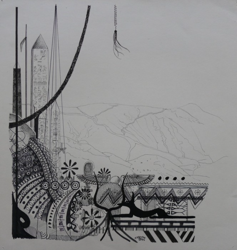 (CreativeWork) Untitled 2 by Jeremy Elkington. drawing. Shop online at Bluethumb.
