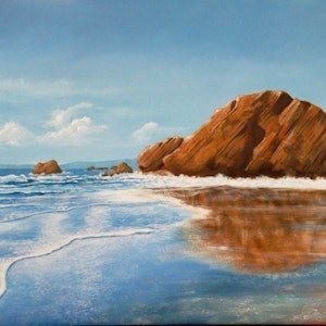 (CreativeWork) Reflections by Paul Bennett. arcylic-painting. Shop online at Bluethumb.
