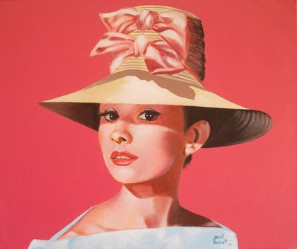 (CreativeWork) Audrey by Paul Bennett. arcylic-painting. Shop online at Bluethumb.